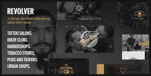 Revolver - Tattoo Studio and Barbershop Theme - Retail WordPress