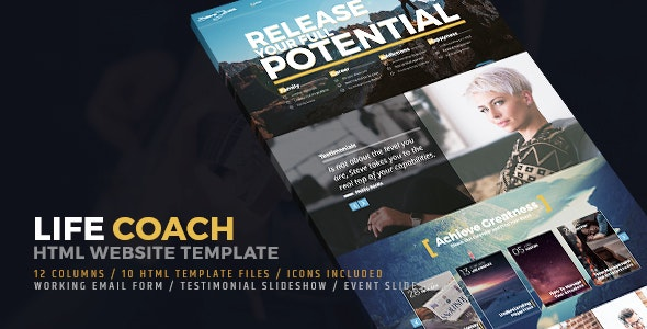 Life Coach HTML Website Template - Business Corporate