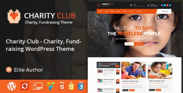 Charity Club - Charity/Fundraising WordPress Theme - Charity Nonprofit