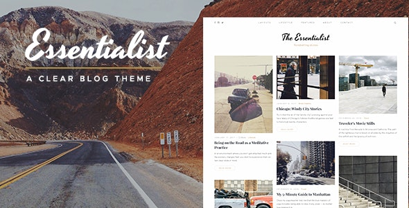 Essentialist — A Narrative WordPress Blog Theme - Personal Blog / Magazine