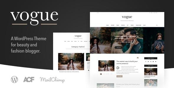 Vogue CD - Lifestyle & Fashion Blog Theme for WordPress