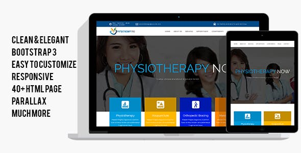 PhysiotherapyPro - Physiotherapy, Physiotherapist, Physiotherapy Clinic HTML Template