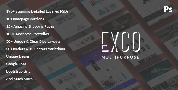 ExCo - Multi-Purpose PSD Template - Corporate Photoshop