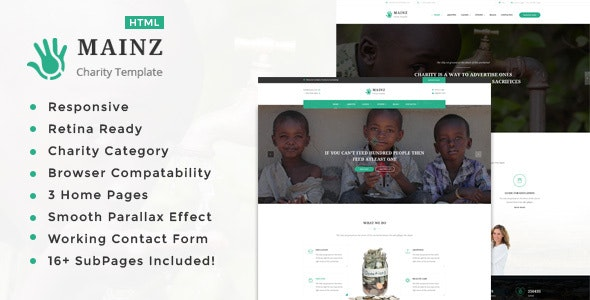 Mainz || Responsive HTML Template for Charity & Fund Raising - Charity Nonprofit