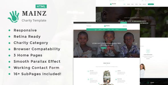 Mainz || Responsive HTML Template for Charity & Fund Raising