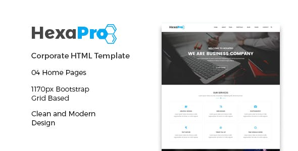 HexaPro – Corporate HTML Template