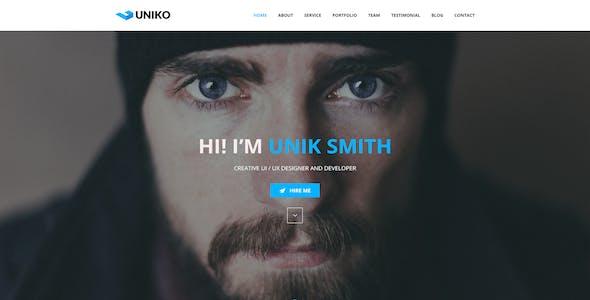 UNIKO - Personal and Portfolio PSD Template