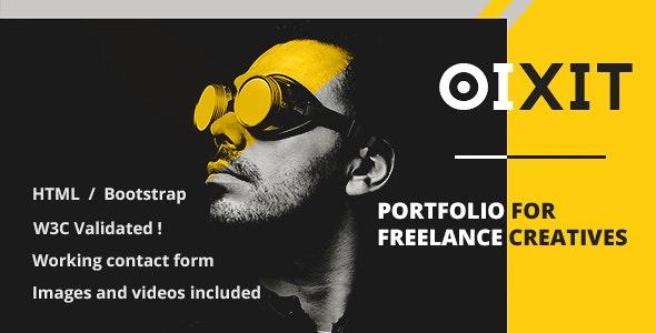 oixit - Portfolio Template for Creative Freelancers - Creative Site Templates