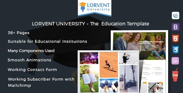 Lorvent Education Template - Creative Site Templates