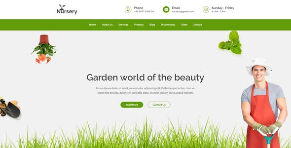 Nursery Garden Website Templates From Themeforest