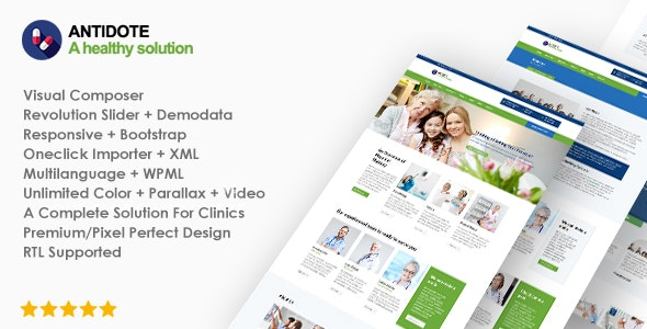 Antidote - Health & Medical WordPress Theme