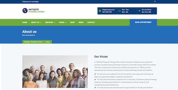 Antidote - Health & Medical WordPress Theme