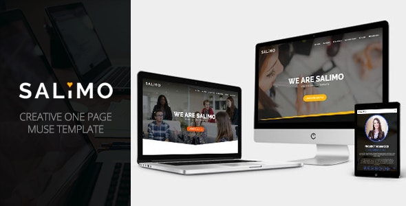 Salimo - Creative One Page Muse Template - Corporate Muse Templates