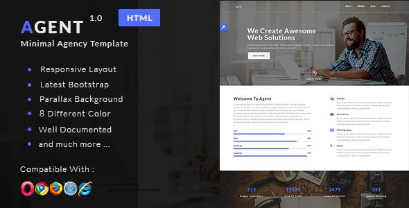 Agent - Minimal Agency Template - Creative Site Templates