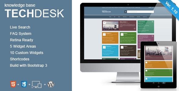 TechDesk - Responsive Knowledge Base/FAQ Theme - Miscellaneous WordPress