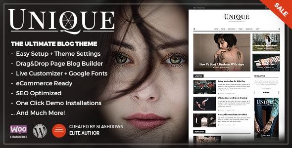 Unique - Personal & Magazine WordPress Responsive Blog Theme - Personal Blog / Magazine