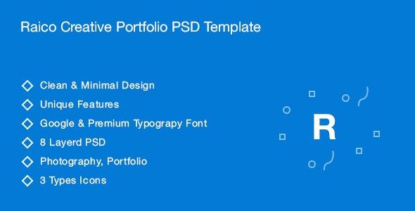 Raico Creative Portfolio PSD Template - Photoshop UI Templates