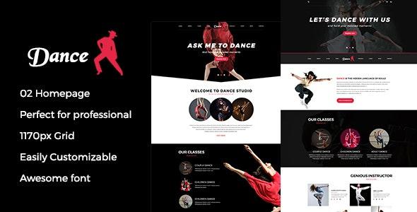 Dance psd template - Photoshop UI Templates