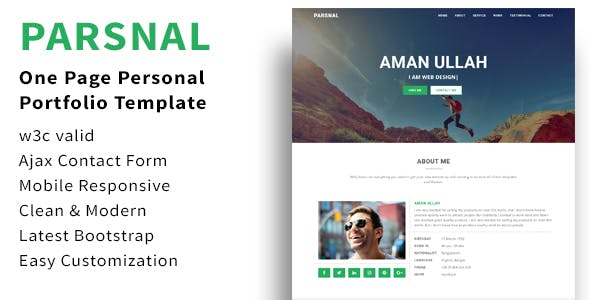 Parsnal - Personal Portfolio html5 template