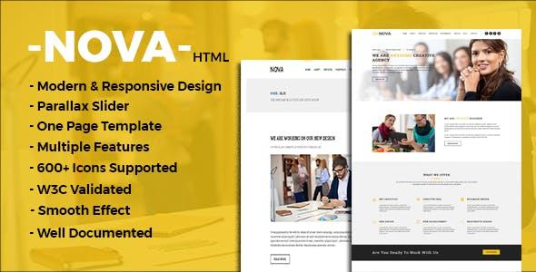 Nova - One Page Multipurpose Template