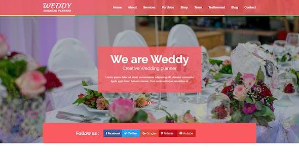 Weddy - Wedding Planner PSD Template