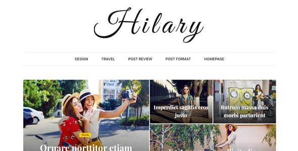 Hilary - Fast - Clean - Flexible WordPress Magazine News Blog Theme