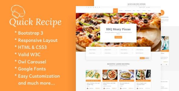 Quick Recipe - Food & Recipes WordPress Theme - Food Retail