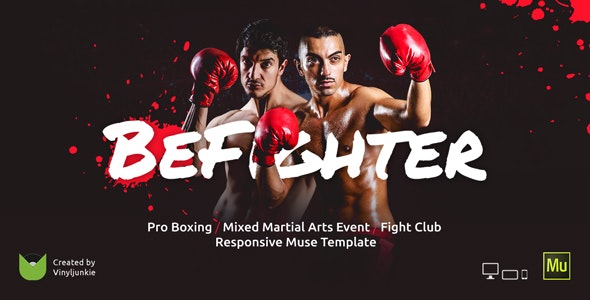 BeFighter - Boxing Event / Mixed Martial Arts / Fight Club Responsive Muse Template - Miscellaneous Muse Templates