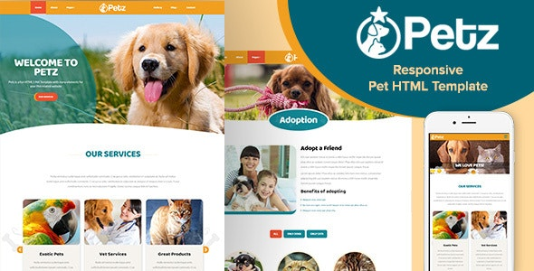 Petz - Responsive HTML Template - Business Corporate