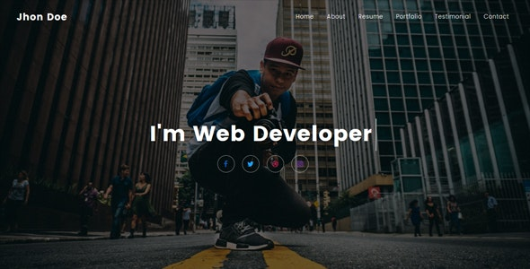 Jhon - Personal Portfolio Template - Personal Site Templates