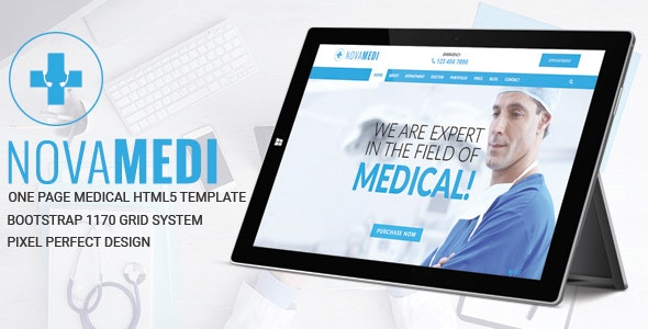 Novamedi - One Page Medical HTML5 Template - Health & Beauty Retail