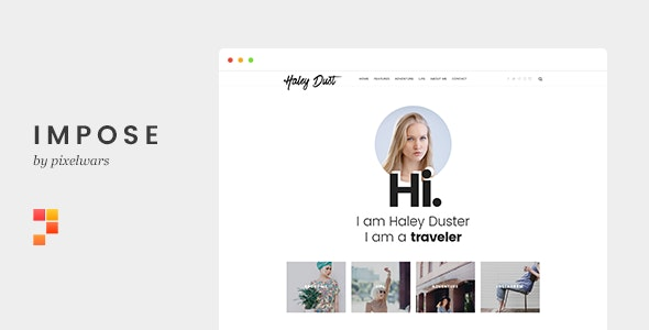 Impose - Template For Bloggers - Personal Site Templates