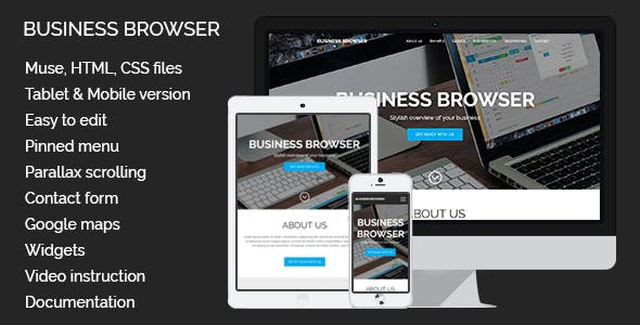 Business Browser | Adobe Muse Template