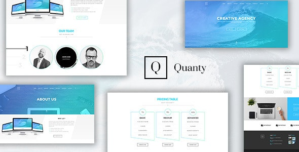 Quanty - Creative Agency and Portfolio HTML Template - Business Corporate