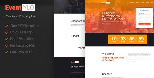 EventYLO l Event Landing Page [ PSD ] - Events Entertainment