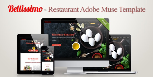 Bellissimo - Restaurant Adobe Muse Template ver.1.1 - Creative Muse Templates