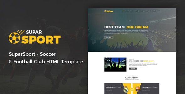 Soccer and Football Club HTML Template - SuparSport - Nonprofit Site Templates