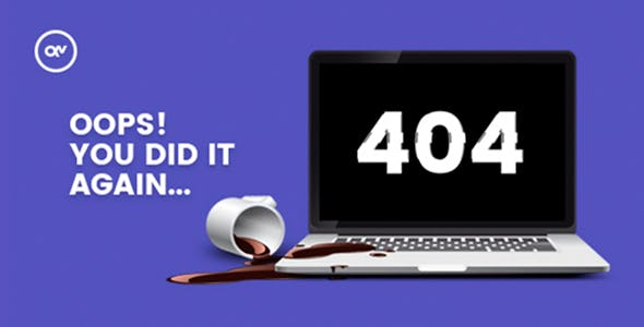 Sosada - creative animated 404 page