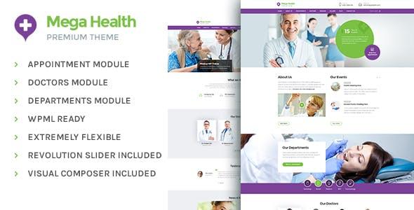 MegaHealth - Medical WordPress Theme For Health Care Center