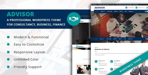 Advisor  - Startup Business & Digital Marketing WordPress Theme - Business Corporate
