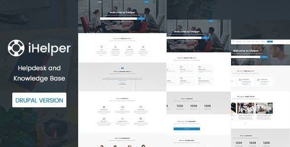 iHelper - Drupal Knowledge & Helpdesk Theme - Business Corporate