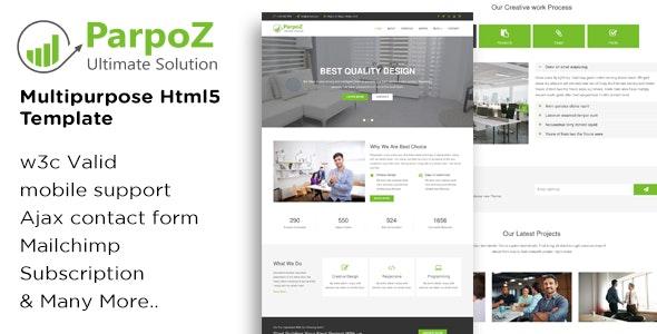 Parpoz - Multipurpose Html5 Template - Business Corporate