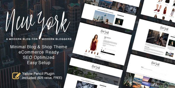 New York - WordPress Blog & Shop Theme