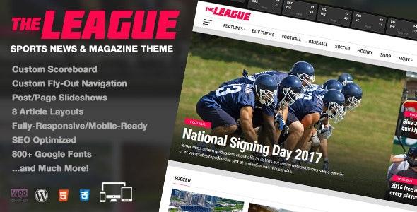 The League - Sports News & Magazine WordPress Theme - News / Editorial Blog / Magazine