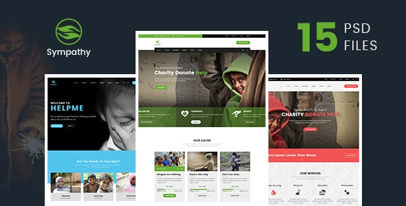 Sympathy | Charity, Non-Profit & Donations PSD Template - Charity Nonprofit