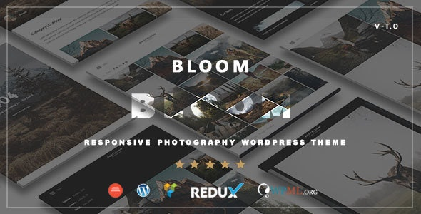 Bloom - Responsive Photography / Portfolio WordPress Theme - Photography Creative