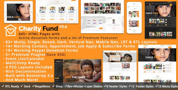 Charity Fund HTML - Charity Nonprofit