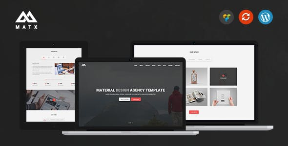 Material Design WordPress Themes from ThemeForest