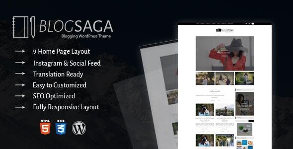 BlogSaga - WordPress Blog Theme