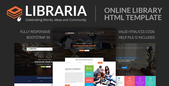 LIBRARIA – Online Library HTML Template - Corporate Site Templates